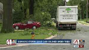 Strong storms again leave wake of damage across Kansas City [Video]