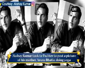 Akshay Kumar shares picture of his mother practising yoga on International Yoga Day [Video]