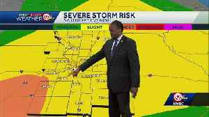 Scattered storms possible Saturday evening [Video]