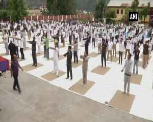 Girl students in JK's Doda take lead on International Yoga Day [Video]