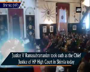 Justce V Ramasubramanian takes oath as Chief Justice of the HP High Court [Video]