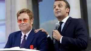 Sir Elton John is awarded France's highest civilian award by the French President [Video]