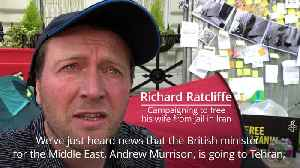 Richard Ratcliffe on day eight of his hunger strike [Video]