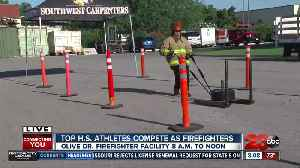 Best high school athletes compete in firefighter competition [Video]