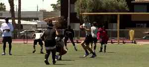 Raiders, Nike share skills with HS players [Video]