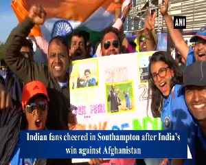 Indian fans cheer as 'men in blue' defend below par total against Afghanistan [Video]