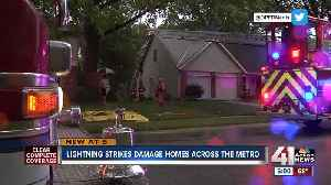 Lightning strikes damage homes [Video]