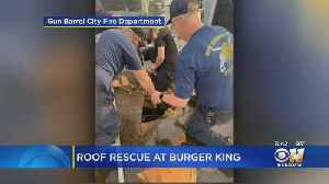 Worker Rescued After Leg Goes Through Roof Of North Texas Burger King [Video]
