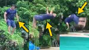 Salman Khan DEADLY Back Flip DIVE In Swimming Pool Will SHOCK You [Video]