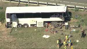 Aerial footage of deadly bus crash in Pueblo [Video]