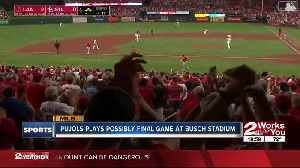 Albert Pujols Possibly Plays Final Game at Busch Stadium [Video]