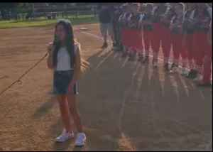 Young Girl Wows Crowd With Rendition of National Anthem at California Softball Game [Video]