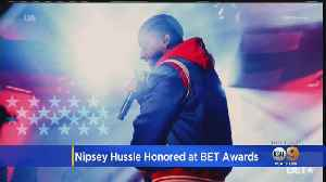 Slain Rapper Nipsey Hussle Wins Humanitarian Award At BET Awards [Video]