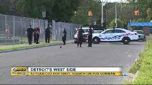 Police search for suspect in shooting of 13-year-old in Detroit [Video]