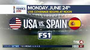 USA prepares to face Spain in the knockout stage of the Women's World Cup Monday [Video]