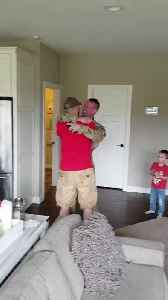 Soldier Walks in Surprising His Partner While They Were Video Chatting [Video]