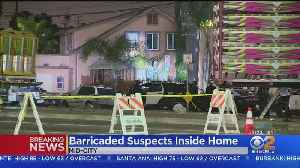 2 Armed Home Invasion Robbery Suspects Believed Barricaded In Mid-City Home [Video]