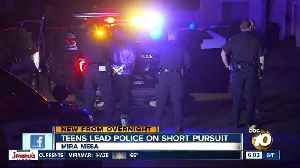 Teens detained after leading San Diego police on pursuit in Mira Mesa [Video]