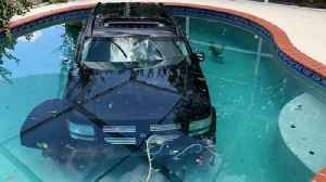 Car Ended Up In A Pool After Driver Hits Gas Instead Of Breaks [Video]