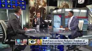 Should Green Bay Packers head coach Matt LaFleur take Hall of Fame quarterback Brett Favre's advice and let QB Aaron Rodgers 'pl [Video]