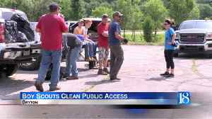 Boy Scouts clean up public access to Wildcat Creek [Video]