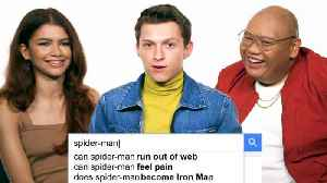 Tom Holland, Zendaya & Jacob Batalon Answer the Web's Most Searched Questions [Video]