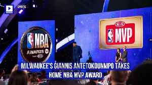 Milwaukee's Giannis Antetokounmpo Takes Home NBA MVP Award [Video]