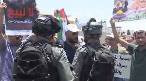 Palestinians protest amid controversial workshop on Middle East peace