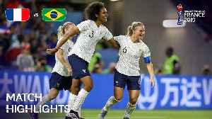 News video: France v Brazil - FIFA Women's World Cup, Round 16, France 2019™