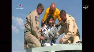 Touchdown: ISS crew returns to Earth [Video]