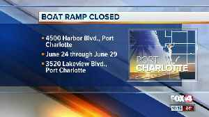 Boat ramp now closed in Port Charlotte for construction [Video]