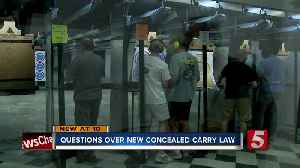 Questions over new handgun carry law from safety experts [Video]