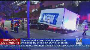 Trailer Carrying NESN Equipment From Red Sox Game Rolls Onto SUV, Trapping 2 People [Video]