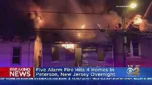 Fire Rips Through 4 Homes In Paterson [Video]