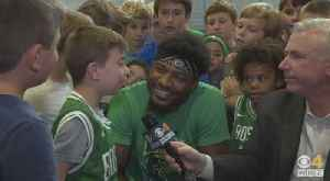 Dan Roche Goes 1-On-1 With Celtics' Marcus Smart After His Youth Basketball Camp [Video]