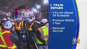 L Train Repairs Ahead Of Schedule [Video]