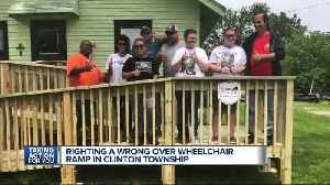 Kindness prevails as 7 Action News viewers help build wheelchair ramp after rip off [Video]
