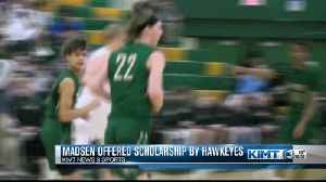 Mayo's Gabe Madsen offered scholarship by Iowa [Video]