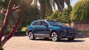 The new Bentley Bentayga Hybrid Design in Windsor Blue [Video]