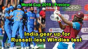 News video: World Cup 2019 | Preview | India gear up for Russell-less Windies test