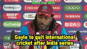World Cup 2019 | Gayle to quit international cricket after India series [Video]