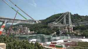 First foundation stone placed for new Genoa bridge [Video]
