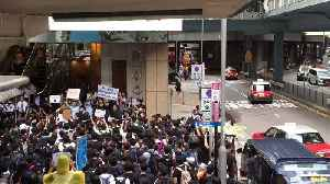 Anti-Extradition Bill Protesters March to Consulates, Call on G20 Leaders to 'Liberate Hong Kong' [Video]