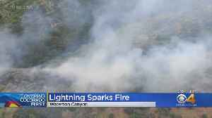 Firefighters Battle Blaze In Waterton Canyon [Video]