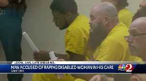 Man accused of raping disabled woman in his care [Video]