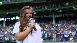GiGi Gianni, Inspiration For GiGi's Playhouse Down Syndrome Achievement Centers, Sings National Anthem At Cubs Game [Video]