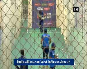 Indian players flex their muscles ahead of clash against West Indies [Video]
