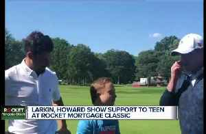 Dylan Larkin, Jimmy Howard show support for teen fighting cancer at Rocket Mortgage Classic [Video]