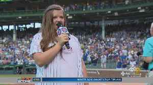 GiGi Gianni Sings National Anthem At Cubs Game [Video]
