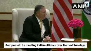 News video: Mike Pompeo meets PM Modi, EAM S Jaishankar, Ajit Doval in New Delhi